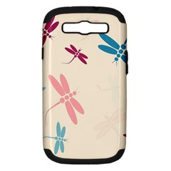 Pastel Dragonflies  Samsung Galaxy S Iii Hardshell Case (pc+silicone) by Valentinaart