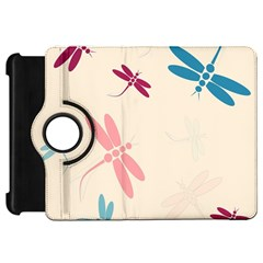 Pastel dragonflies  Kindle Fire HD Flip 360 Case by Valentinaart