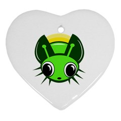 Transparent Firefly Ornament (heart)  by Valentinaart
