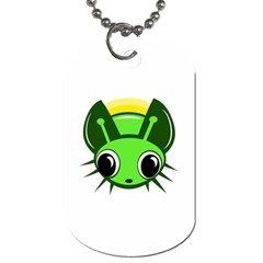 Transparent Firefly Dog Tag (two Sides) by Valentinaart