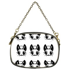 Black And White Fireflies Patten Chain Purses (two Sides)  by Valentinaart