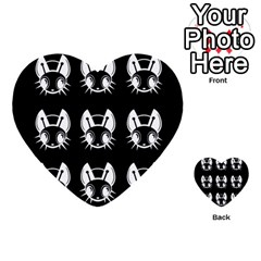 White And Black Fireflies  Multi Purpose Cards (heart)  by Valentinaart