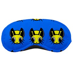 Yellow And Blue Firefies Sleeping Masks by Valentinaart
