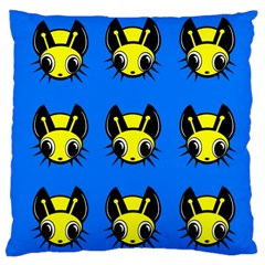 Yellow And Blue Firefies Large Cushion Case (two Sides) by Valentinaart