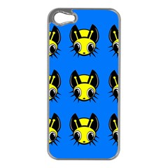Yellow And Blue Firefies Apple Iphone 5 Case (silver) by Valentinaart