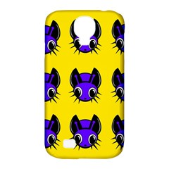 Blue And Yellow Fireflies Samsung Galaxy S4 Classic Hardshell Case (pc+silicone) by Valentinaart