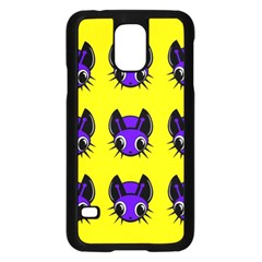 Blue And Yellow Fireflies Samsung Galaxy S5 Case (black) by Valentinaart