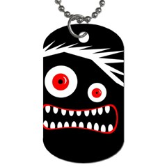 Crazy Monster Dog Tag (two Sides) by Valentinaart