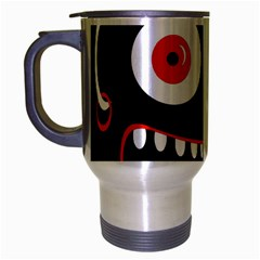 Crazy Monster Travel Mug (silver Gray) by Valentinaart