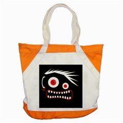 Crazy Monster Accent Tote Bag by Valentinaart