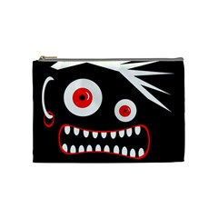 Crazy Monster Cosmetic Bag (medium)  by Valentinaart