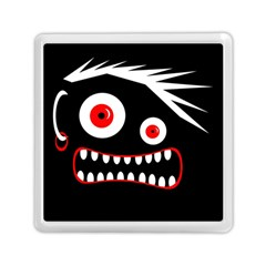 Crazy Monster Memory Card Reader (square)  by Valentinaart