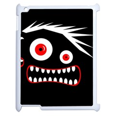 Crazy Monster Apple Ipad 2 Case (white) by Valentinaart