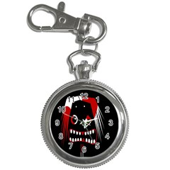 Zombie Face Key Chain Watches by Valentinaart