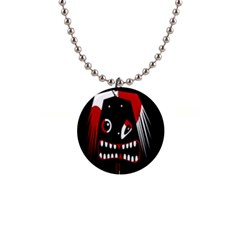 Zombie Face Button Necklaces by Valentinaart