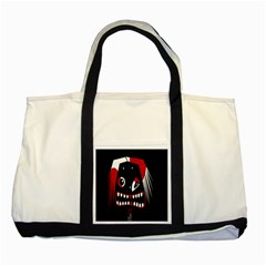 Zombie Face Two Tone Tote Bag by Valentinaart