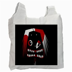 Zombie Face Recycle Bag (one Side) by Valentinaart