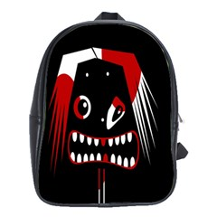 Zombie Face School Bags(large)  by Valentinaart