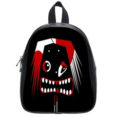 Zombie Face School Bags (small)  by Valentinaart