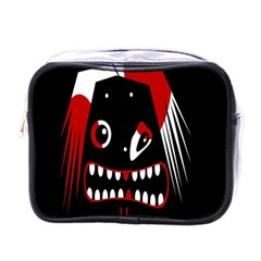 Zombie Face Mini Toiletries Bags by Valentinaart