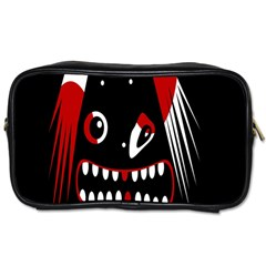 Zombie Face Toiletries Bags 2 Side by Valentinaart