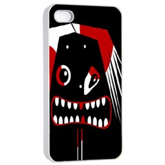 Zombie Face Apple Iphone 4/4s Seamless Case (white) by Valentinaart