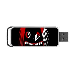Zombie Face Portable Usb Flash (two Sides) by Valentinaart
