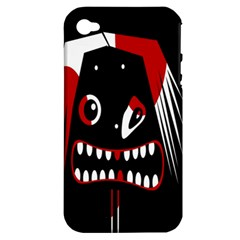 Zombie Face Apple Iphone 4/4s Hardshell Case (pc+silicone) by Valentinaart