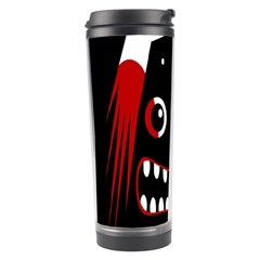 Zombie Face Travel Tumbler by Valentinaart