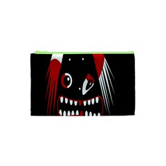 Zombie Face Cosmetic Bag (xs) by Valentinaart