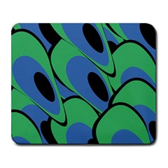 Peacock Pattern Large Mousepads by Valentinaart