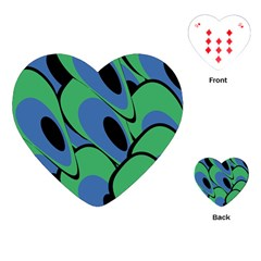Peacock Pattern Playing Cards (heart)  by Valentinaart