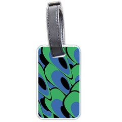 Peacock Pattern Luggage Tags (one Side)  by Valentinaart