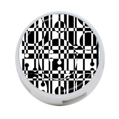 Black And White Pattern 4 Port Usb Hub (one Side) by Valentinaart