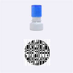 Black And White Pattern Rubber Round Stamps (small) by Valentinaart