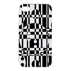 Black And White Pattern Apple Iphone 4/4s Hardshell Case by Valentinaart