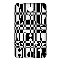 Black and white pattern Samsung Galaxy Tab 4 (8 ) Hardshell Case  by Valentinaart