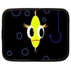 Yellow Fish Netbook Case (xxl)  by Valentinaart