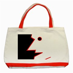 Man Classic Tote Bag (red) by Valentinaart