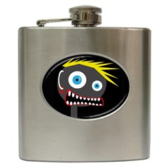 Crazy Man Hip Flask (6 Oz) by Valentinaart