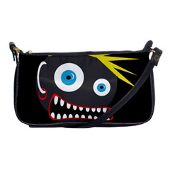 Crazy Man Shoulder Clutch Bags by Valentinaart