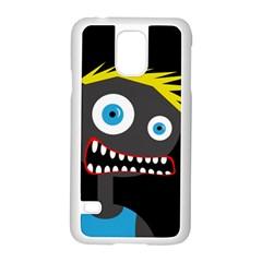 Crazy Man Samsung Galaxy S5 Case (white) by Valentinaart