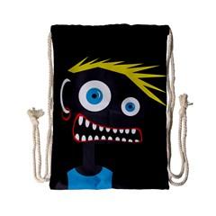 Crazy Man Drawstring Bag (small) by Valentinaart