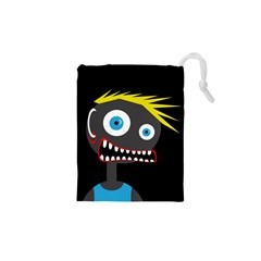 Crazy Man Drawstring Pouches (xs)  by Valentinaart