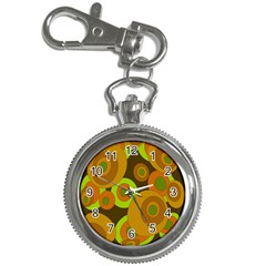 Brown Pattern Key Chain Watches by Valentinaart