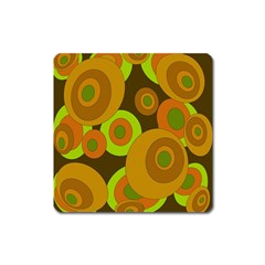 Brown Pattern Square Magnet by Valentinaart