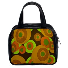Brown Pattern Classic Handbags (2 Sides) by Valentinaart