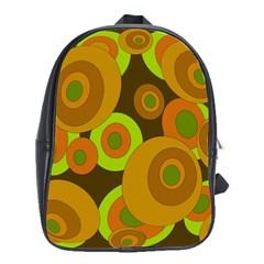 Brown Pattern School Bags(large)  by Valentinaart