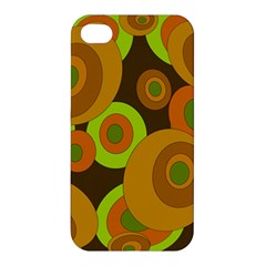 Brown Pattern Apple Iphone 4/4s Hardshell Case by Valentinaart