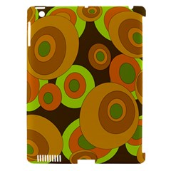 Brown Pattern Apple Ipad 3/4 Hardshell Case (compatible With Smart Cover) by Valentinaart